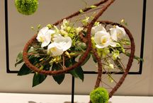 Floral art arranging