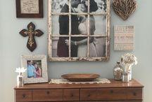 Vintage ablakdekor