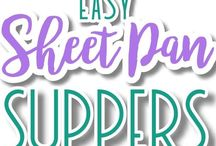 Easy Meals: One Sheet Meals, One Pot Meals / One Sheet Meals | One Pot Meals | Meal Planning Ideas | Easy Dinner Ideas | #mealplanning #onepotmeals