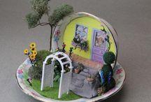 miniatury ogród