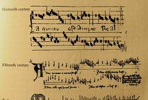 Spartito / Spartiti musicali e il loro sviluppo nei secoli