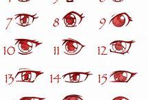 dessin de personnage / cheveux, yeux et accessoires pour dessiner des personnages