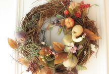 Door Decor  / Fall, Spring, and other seasonal wreaths