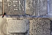 Journal ideas / These are some really cool and groovy ideas for your art journals