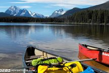Lake Canoeing  / Explore Canada's picturesque lakes on a canoeing adventure, many of which take place in national and provincial parks, offering a variety of wildlife and scenery.