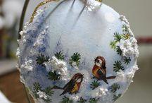 Decupage Boże Narodzenie / Piękne przedmioty wykonane techniką decupagu