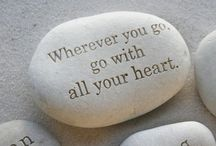 stones with message
