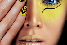 Augen schminken gelb