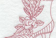 Machine embroidery / All kinds of machine embroidery - for clothing - household linens etc