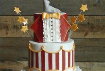 Circus vintage cake