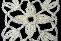 Puntadas de flores en crochet