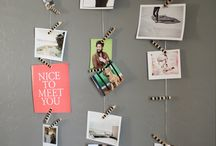 pictures installation/ inspiration board