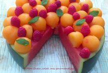 gâteau pastèque melon