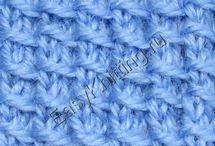 Простые узоры / Красивые простые узоры спицами для начинающих. Easy Knitting Patterns for Beginners. #простыеузоры