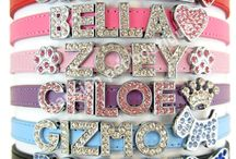 Parisian Pet® Personalized Dog Cat Pet Collars / Our personalized metallic collars feature high quality fine leather. These fashionable accessories can be personalized with your pet's initials, nickname or any message by sliding on one or more of our rhinestone letters and/or charms.