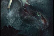 """Syreny, driady i druidzi / Materiał zebrany na potrzeby RPG """"MIRELIS-RPG"""" na deviantArcie."""