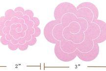 Plantilla de flores de fieltro