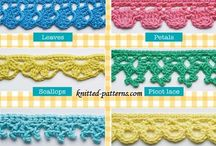 Knit and crochet edgings