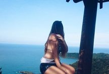 Paisagem / Mar e céu azul