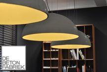 Betonnen lampen / Lichtgewicht betonnen lamp