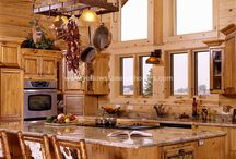 WINTER CABIN / Snuggle up in a secluded log cabin by the side of a mountain lake >> Hot chocolate and Hot toddys >> >> warmth, wood, nature >>