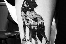 Dog/Wolf Tattoo Design