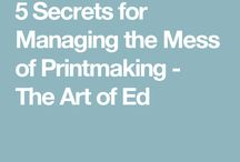 Printmaking organization and tips