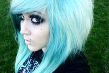Blue hair / Blue emo/scene hair