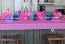 Pink and Blue Themed Birthday Party