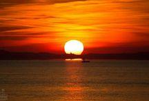 Balatoni naplemente / Sunset at Lake Balaton