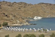 Paros Park Beaches / The Environmental and Cultural Park of Paros has three main beaches within the peninsula of Agios Ioannis Detis. Café Parko is servicing Monastiri beach.