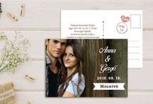 Grafikus esküvői meghívó - Wedding invitation with graphics