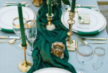 Wedding Colour- Emerald / Emerald is a strong and vibrant colour, but use accent colours cleverly and you will create a theme that's memorable for all the right reasons!