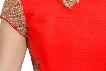 zari embroidery kurta neck