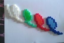 fatto dai bimbi / Creazione a schema libero di perline da stirare