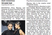 Press Coverage / Bare in Black's launch event 'Midnight Dawn' featured in various print publications.