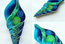 Quilled seashells
