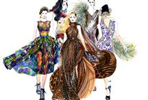 Runway Illustrated SS2012 / I illustrated 25 looks from SS 2012 collection. http://sunnygu.com