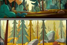 Cartoon Backgrounds
