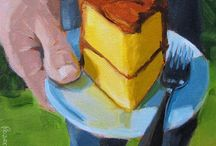 Paintings of Cakes & Sweets