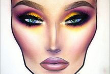 Face chart make-up