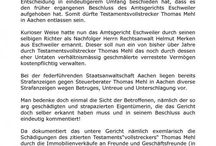 Internetreporter Aachen / Internetpresse ermittelt über Internetreporter strafrechtliche Taten des Steuerberaters und Testamentsvollstreckers Thomas M. in  Aachen.
