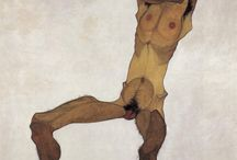Schiele / Real master of use of the line ✍