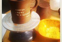 my work / #pasta #lettering #pottery #mug