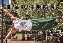 human flag Training
