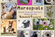 Marsupiali - Marsupials crochet