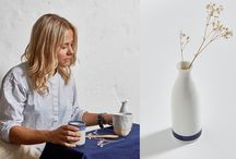 Japanese Homewares / Shibori cushions, ceramic dinnerware handmade candles and more