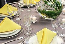 Gray and Lemon weddings