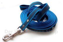 Blau, Blau, Blau.... / Halsbänder und Hundeleinen on Hellblau, über Türkis bis Dunkelblau
