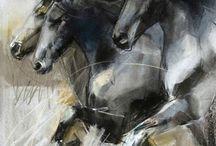 paarden schilderij